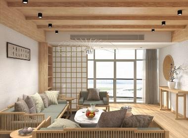 深圳新中式原木风住宅设计
