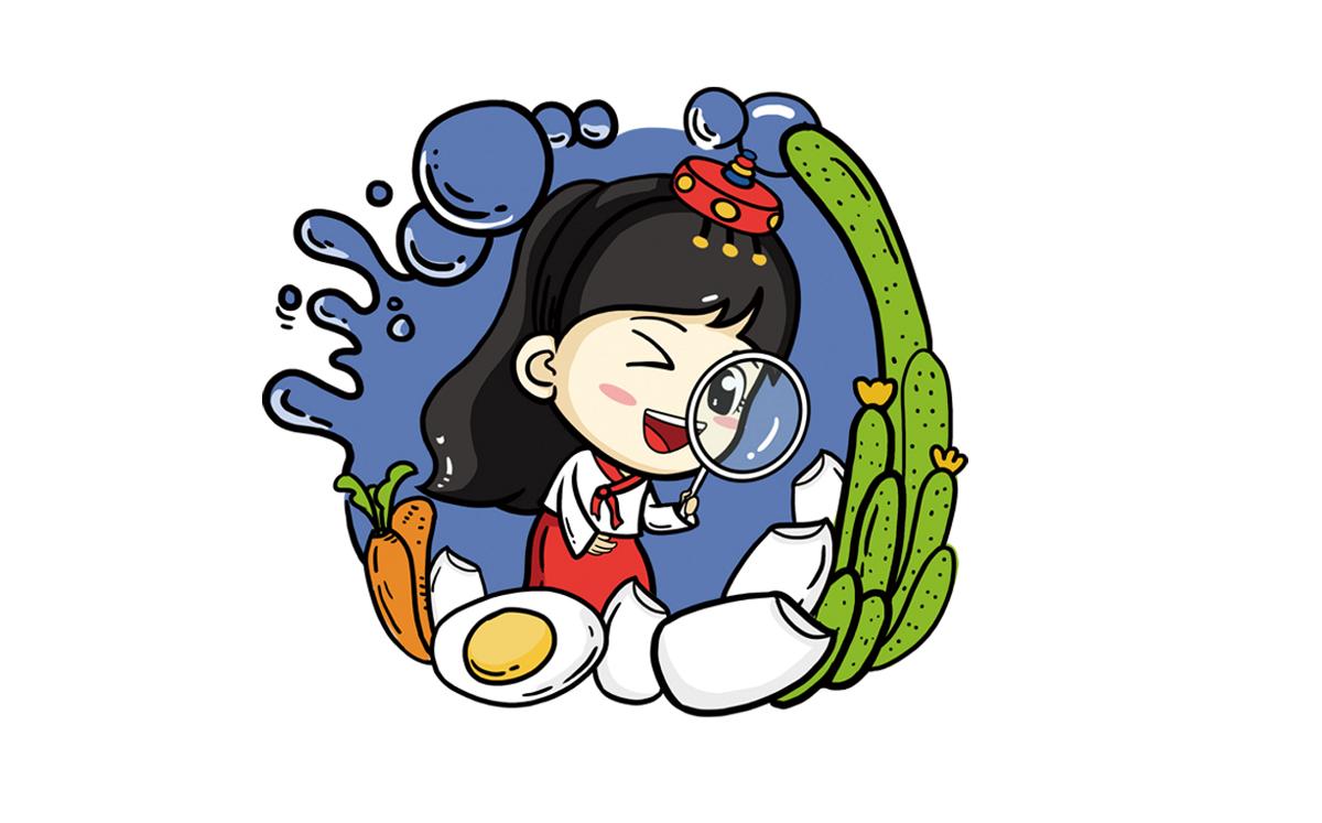熙顺紫菜包饭品牌全案插画设计