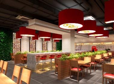 成都快餐店设计-村食汇