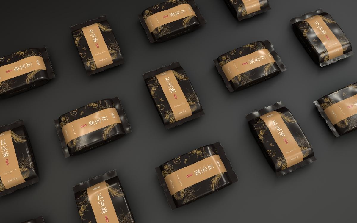 《五宝茶》茶叶包装设计