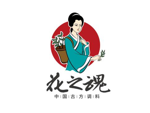 花之魂香料标志logo包装设计