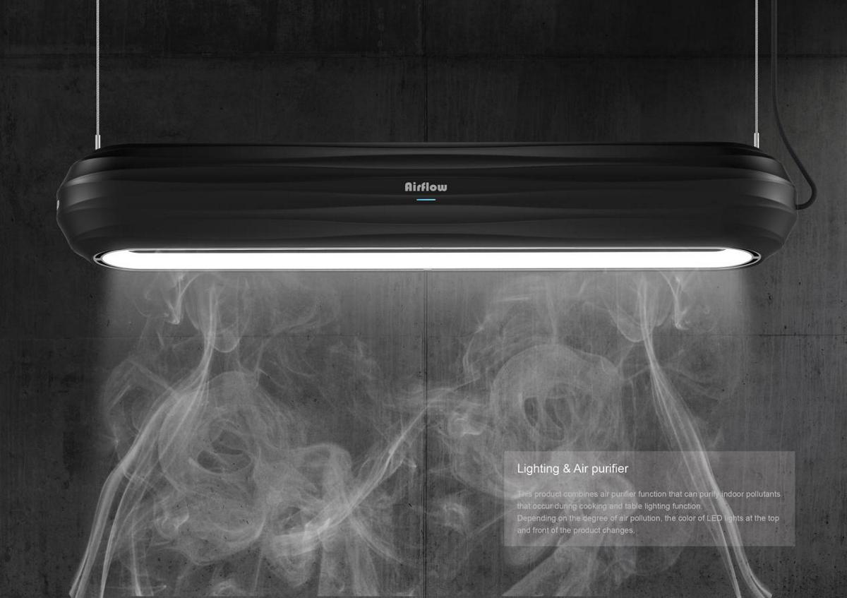 厨房智能照明空气净化器