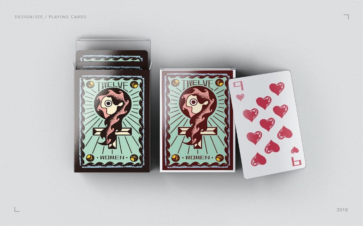 TWELVE  WOMEN / 插画扑克牌设计
