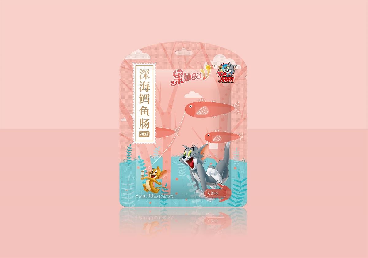 果仙多维鱼肠食品包装设计