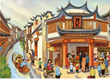 刘记江南中式糕点品牌全案插画设计