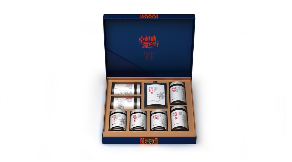 卓越集团太阳礼盒包装设计 农产品礼盒包装设计 特产礼盒包装设计