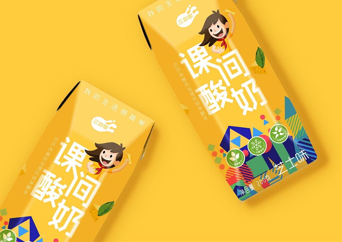 本质品牌案例——三剑客课间酸奶