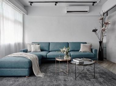 现代风格蓝色住宅--欧模网设计头条