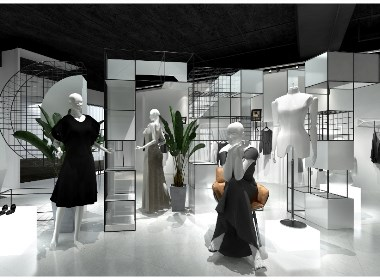 1972品牌女装店铺设计|品牌女装店铺设计效果图