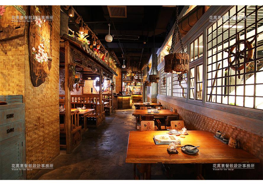 过桥仙居唐道   花万里餐厅设计