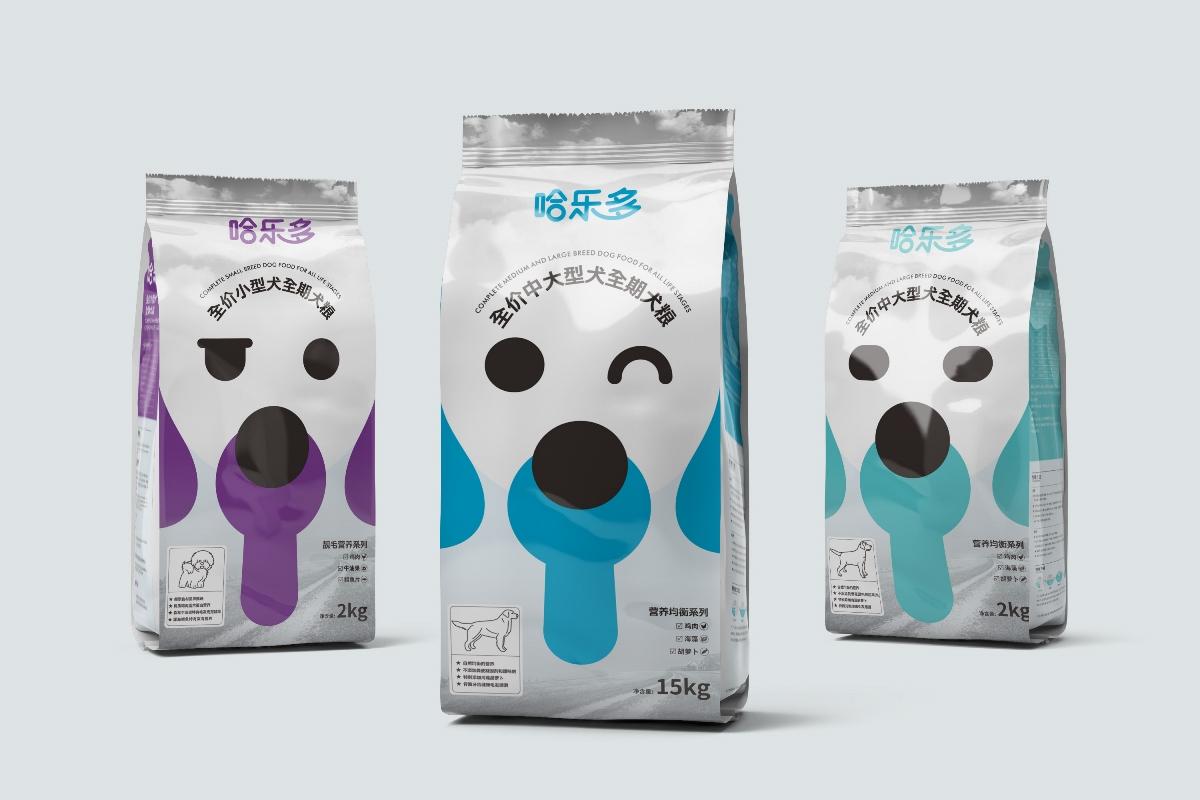 河北寵物食品包裝袋設計,西安厚啟設計,一花一世界,一狗一表情