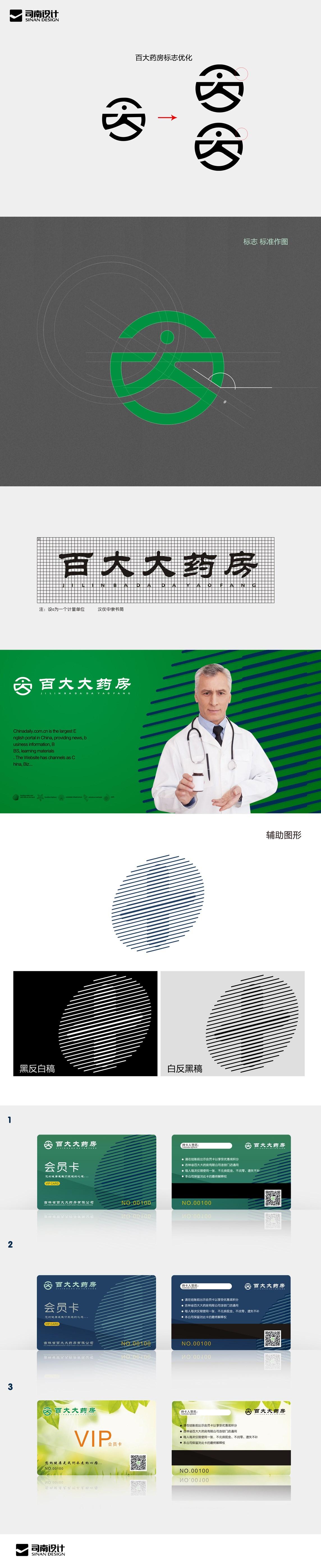 齐发娱乐_连锁药店标志改良设计
