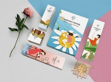 原创插画化妆品包装设计&原创产品设计&肸品牌案例
