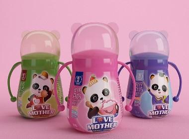 旺仔爱锌妈妈儿童成长型调制乳——徐桂亮品牌设计