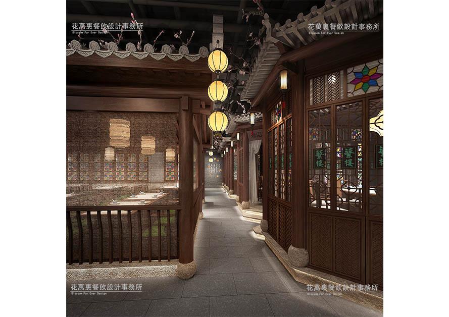 深圳蘩楼餐厅 | 花万里餐厅设计