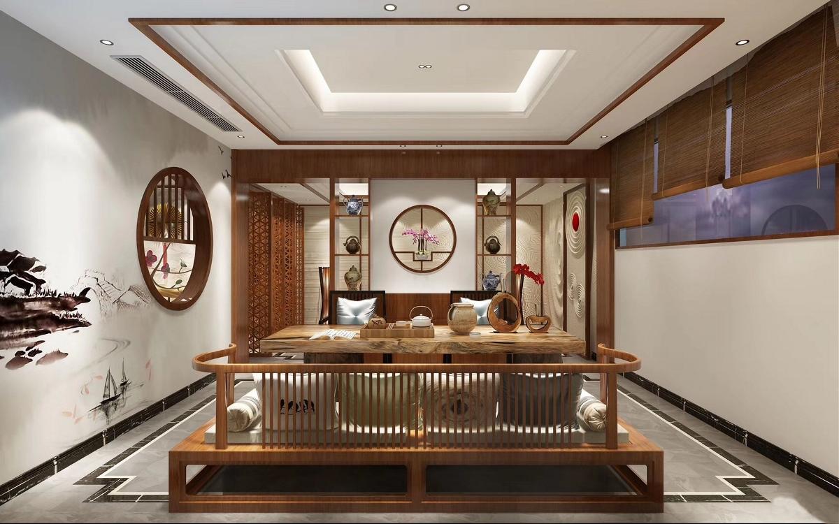 贵州600平别墅新中式风格装修设计