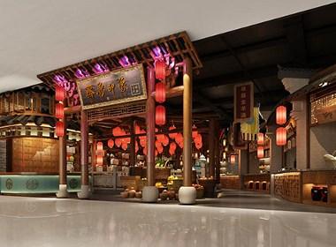 济南齐鲁印象长清主题餐厅设计 | 花万里设计
