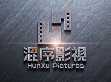 混序影视影业传媒电影胶卷HX标志LOGO品牌设计