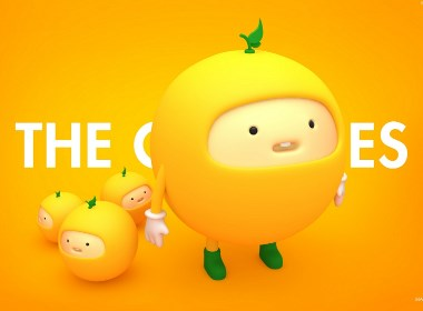 C4D角色建模橙子家族