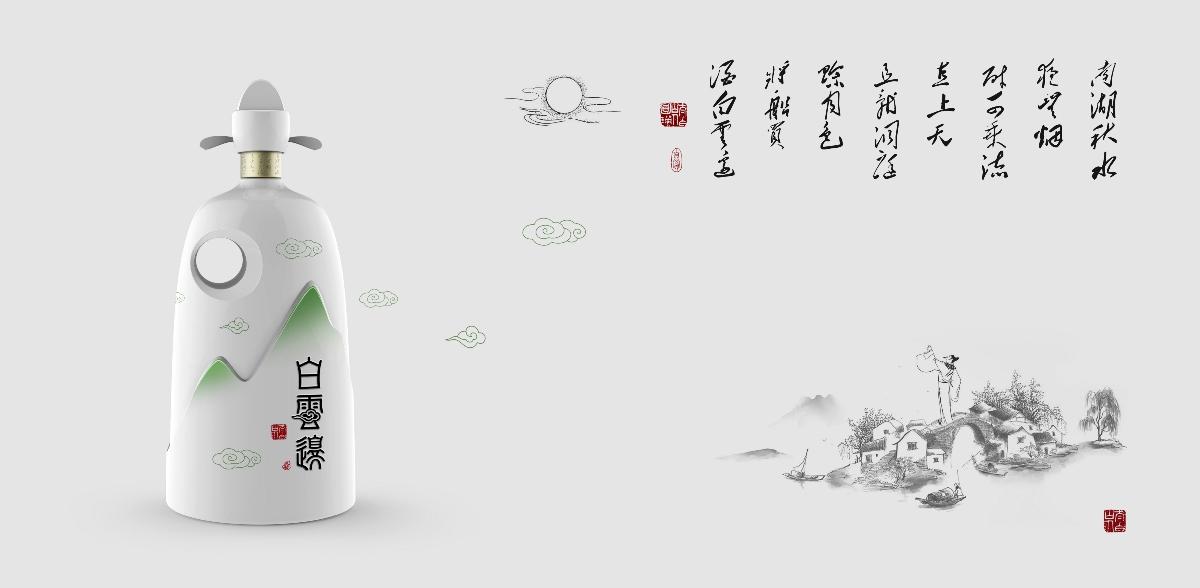 白酒包装设计-白云边酒