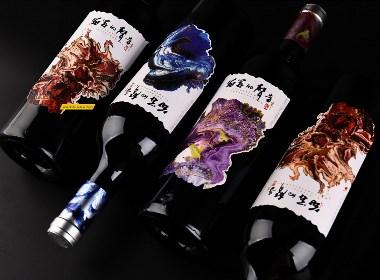 """寧夏巴格斯酒莊""""花開的聲音""""系列紅酒產品包裝設計------古一設計"""