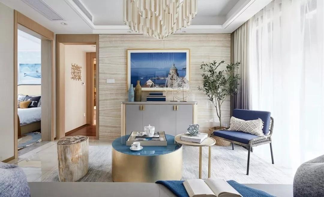 正商善水上镜180平新中式风格装修效果图欣赏---电视背景墙