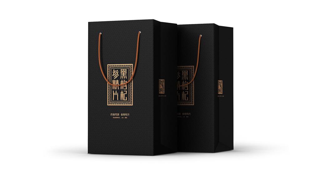 黑枸杞参精片包装 滋补保健品包装设计 美容养颜产品包装