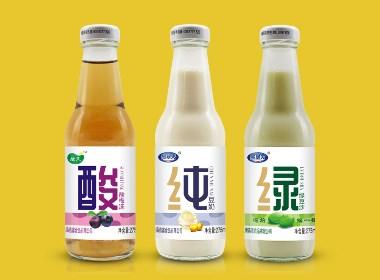 纯豆奶包装设计、绿豆沙包装设计、酸梅汤包装设计、瓶装饮料包装设计、郑州饮料包装设计、郑州食品包装设计