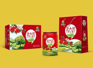 红枣山楂汁饮料包装设计、易拉罐饮料包装设计、饮料品牌设计策划