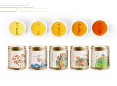 甲鼎品牌案例:厦门城市印记,佰翔茶叶包装创意设计欣赏