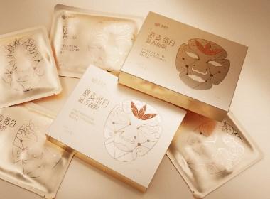 燕麥蛋白面膜美妝包裝設計