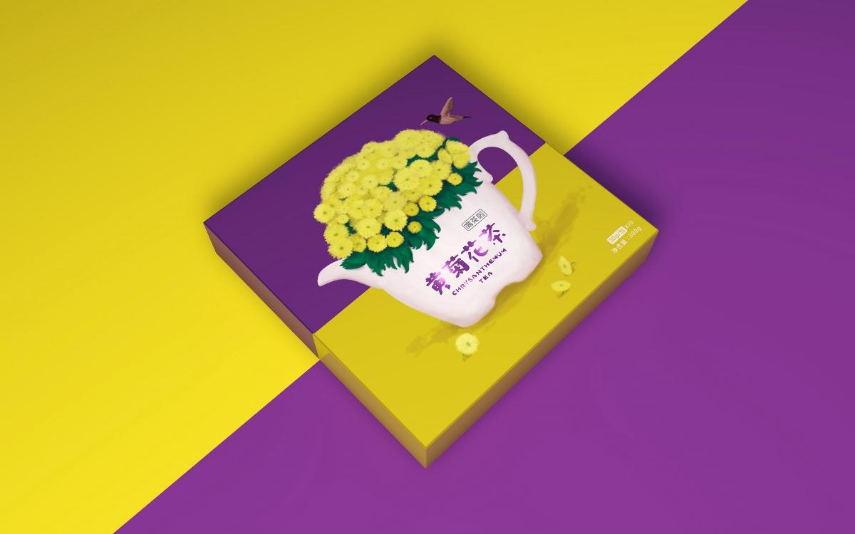遇见真相作品「喝茶啦系列花茶」包装设计