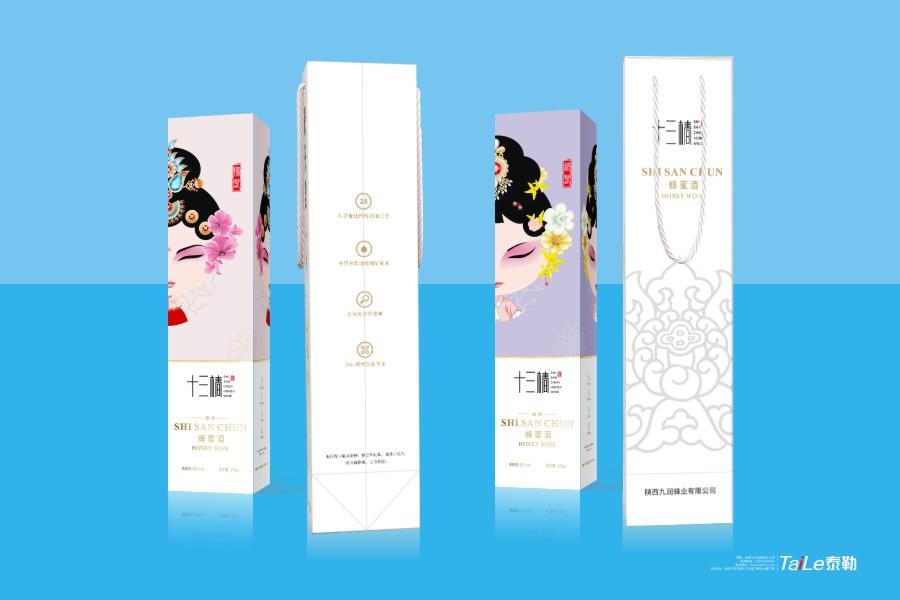 十三椿蜂蜜酒/瓶身包装设计