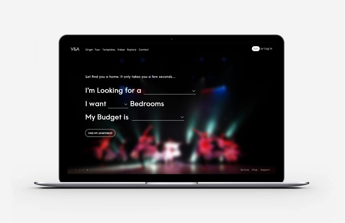 V&A网页设计