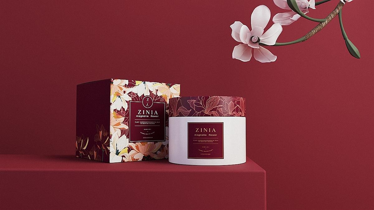 《ZINIA》化妆品牌&产品包装设计