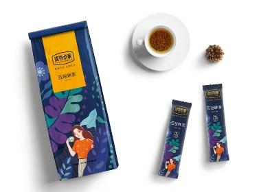 沫谷米家系列谷茶包装设计