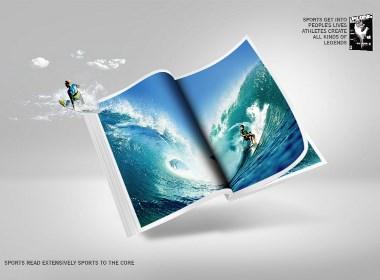 体育杂志刊物的主视觉、创意海报