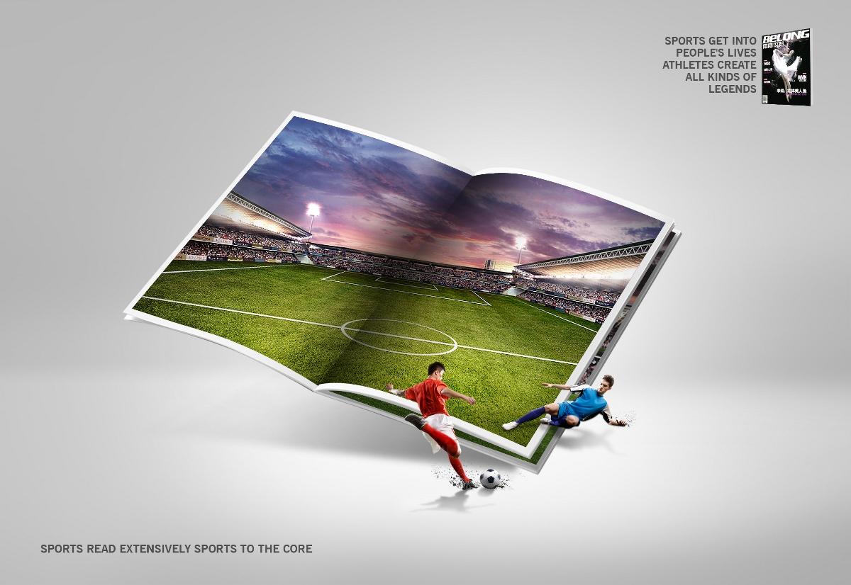 体育杂志刊物的主视觉,创意海报