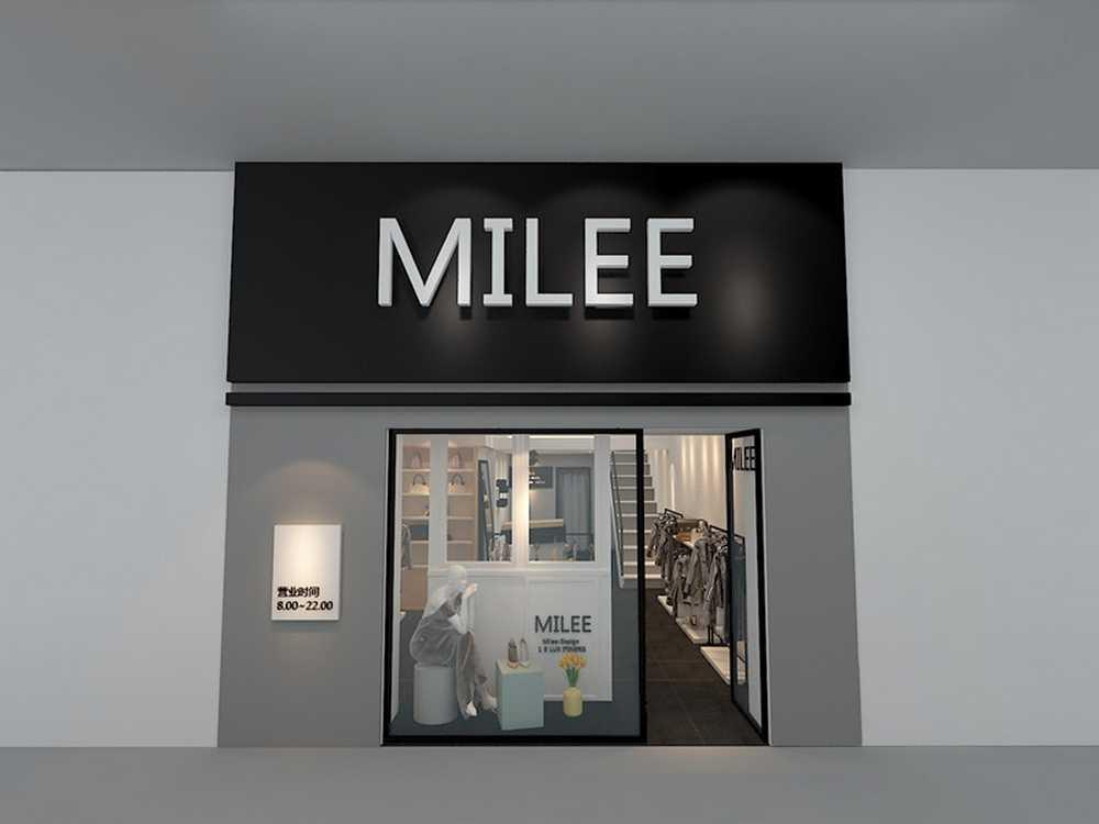 成都小型服装店装修设计风格-liee服装店效果图