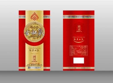 古秘藏青稞酒(1、五峰古泉——2、日月山泉)包装设计