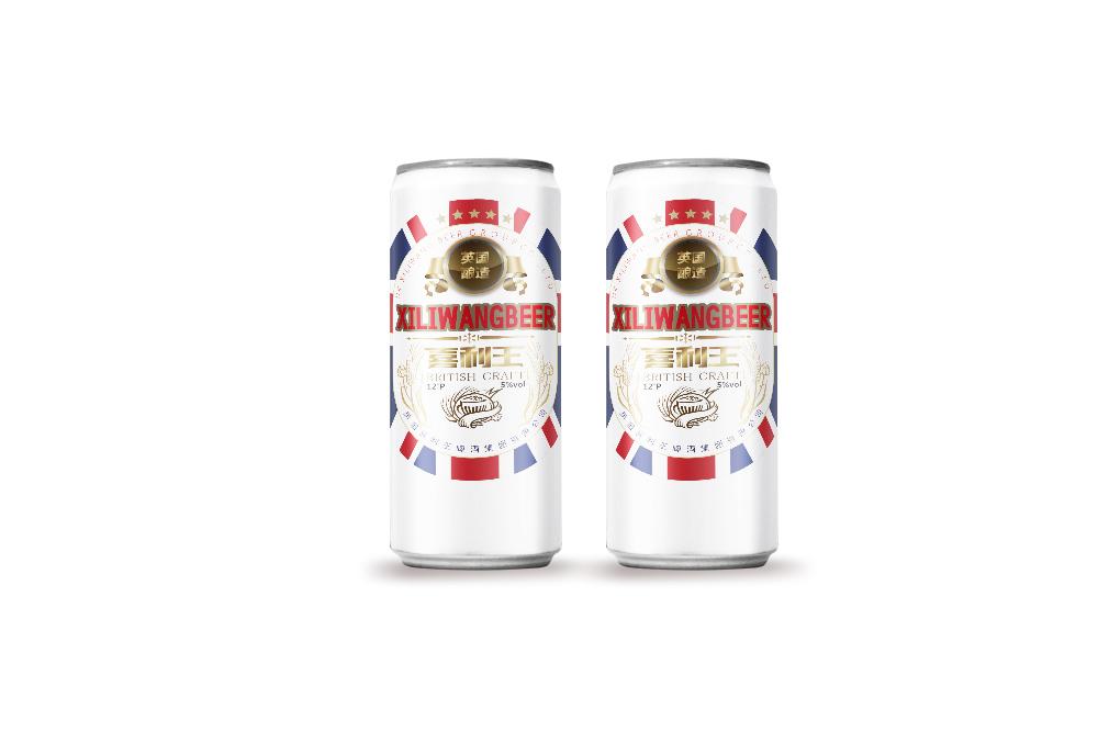 英伦风啤酒的系列包装——瓶装设计与罐装设计
