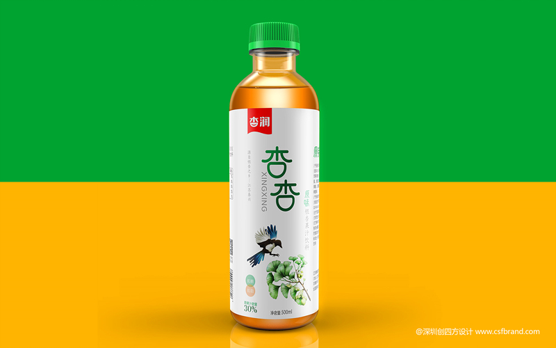 银杏原味果汁饮料包装设计