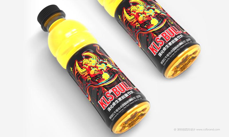 KLS BULL强化维生素能量饮料包装设计