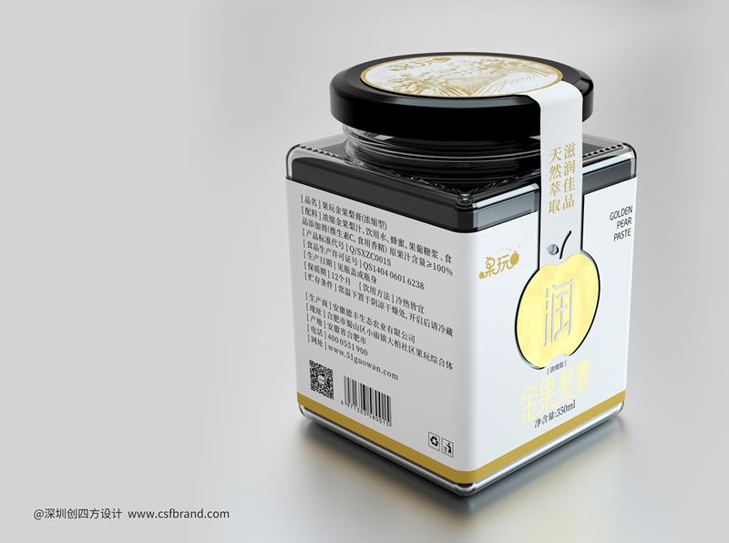 金果梨膏包装设计