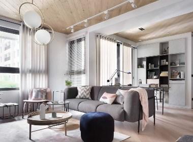 125㎡北欧风住宅--欧模网设计圈