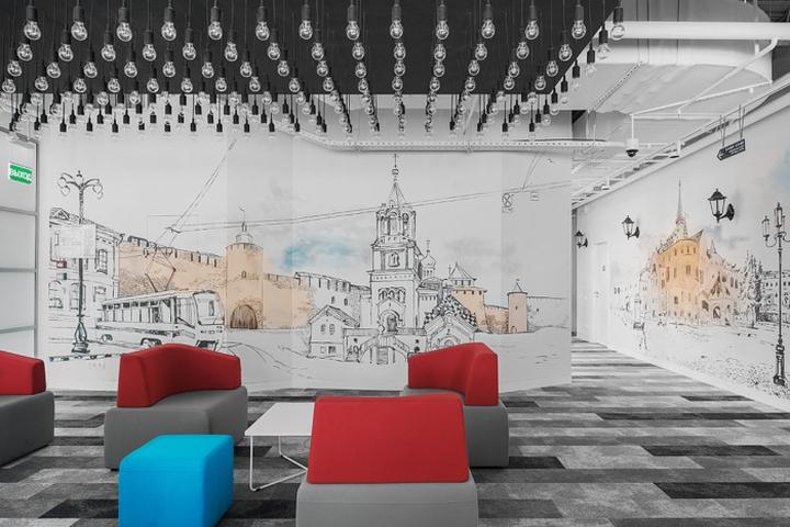 莫斯科华为新总部办公空间设计