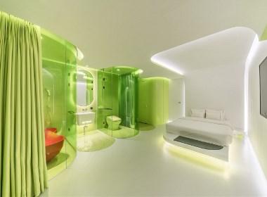 Lime Flavor时尚未来感的酒店套房设计