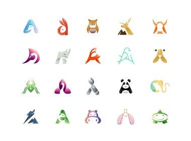 一组A字母动物logo创意练习