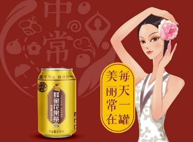 蜂蜜花果茶 | 品牌策划 · 品牌形象设计 | 易拉罐饮料包装设计|饮料品牌设计策划