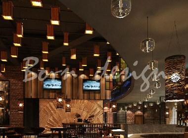 音乐主题餐厅装饰装修设计效果图